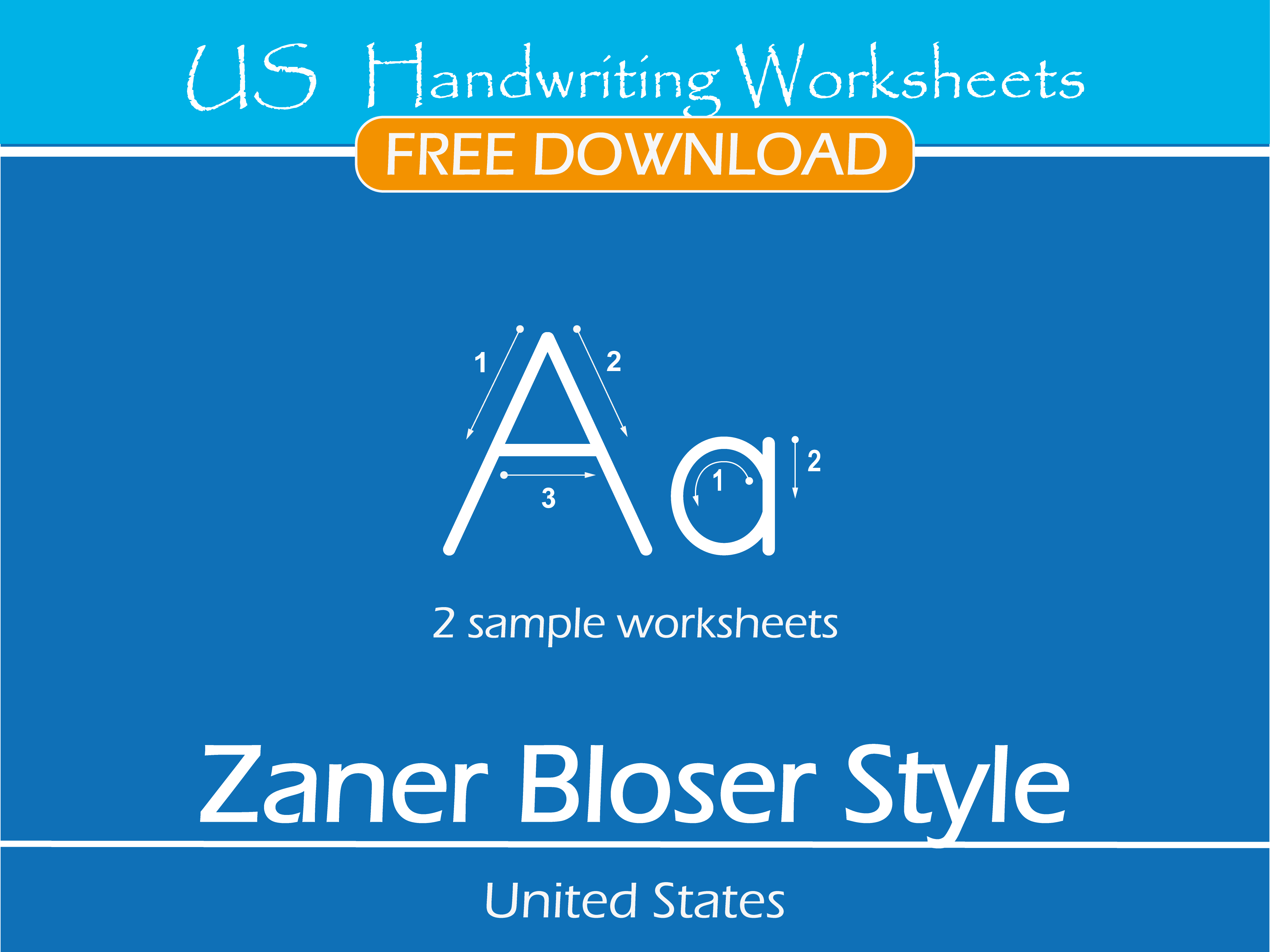 US Handwriting Worksheets Zaner Bloser Style Free Sample – Zaner Bloser Cursive Worksheets